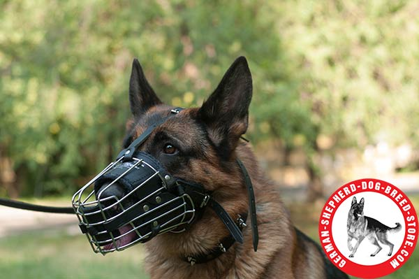 German Shepherd Muzzle Designed for Free Breathing