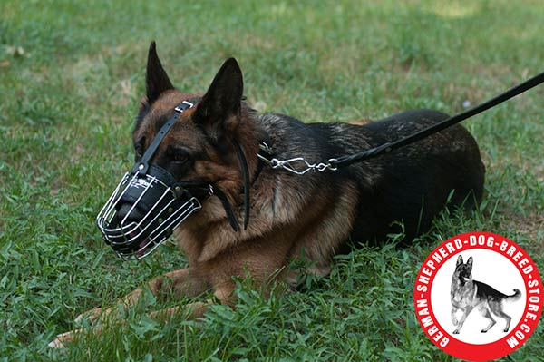 Extra Durable German Shepherd Wire Muzzle